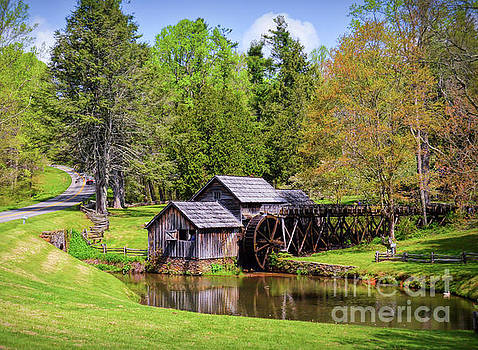 Mabry Mill in the Springtime on the Blue Ridge Parkway  by Kerri Farley