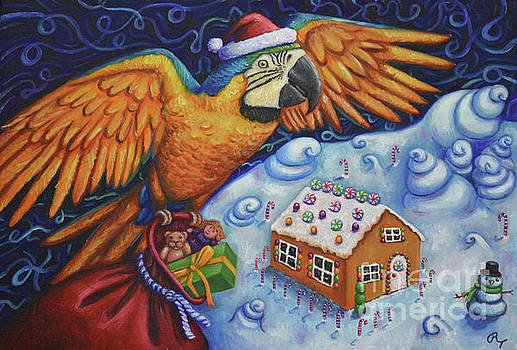 Macaw Candyland by Rebecca Tiano