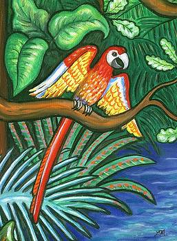 Linda Mears - MacCaw Parrot in the Jungle