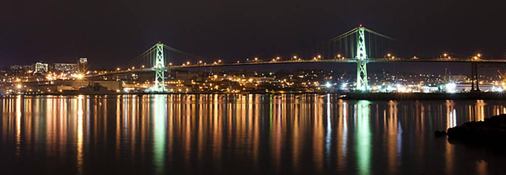 MacDonald Bridge at Night by Nancy Killam
