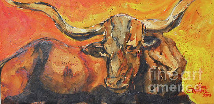 Macho Longhorn by Ron Stephens