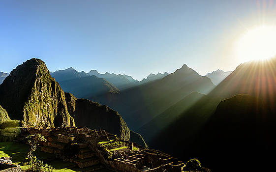 Machu Picchu Sunrise 1 by Oscar Gutierrez
