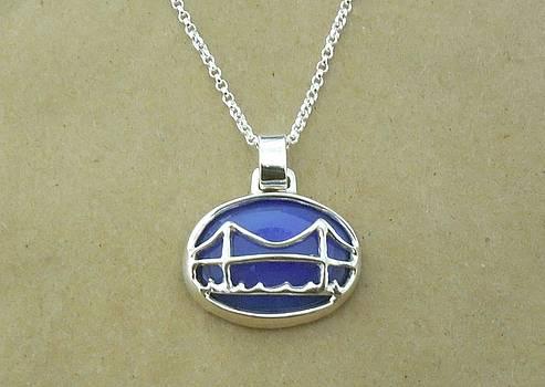 Mackinac Bridge Necklace by Ted Lepczynski