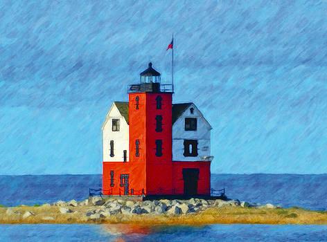 Mackinaw Round Island Lighthouse by John Farr
