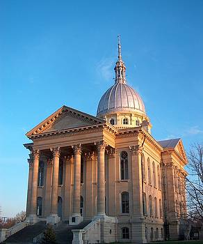 Macoupin County Courthouse in Carlinville Illinois by Denise   Hoff