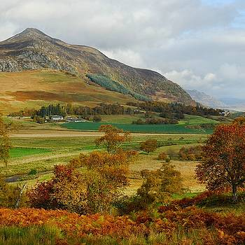Macpherson Autumn - The Clan MacPhersons Seat  by John Kelly