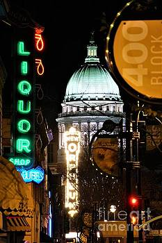 Madison Wisconsin Mad City Lights by Jeff Murphy