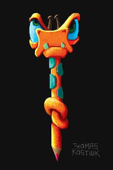 Thomas Olsen - Mad giraffe pencil