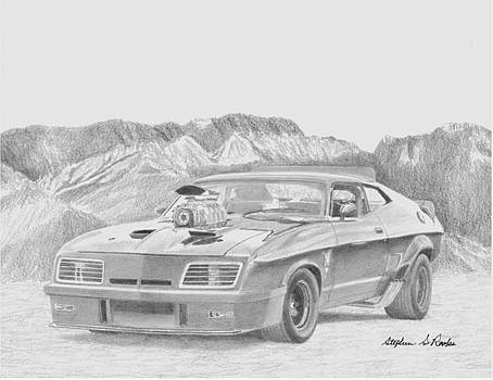 Mad Max V8 Interceptor CLASSIC CAR ART PRINT by Stephen Rooks