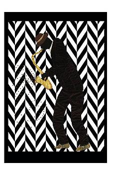 Mad Sax Poster by Aisha Lumumba