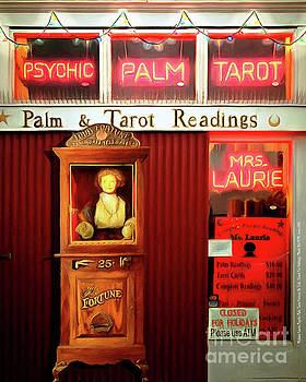 Madame Lauries Psychic Palm Tarot Fortune Be Told Closed For Holiday Please Use ATM circa 2016 v2 by Wingsdomain Art and Photography