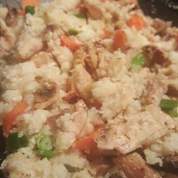 Made Cauliflower Fried Rice For My Love by Jocelyne Maxim