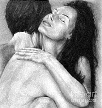 Madly In Love Couple- Black and White Drawing by RjFxx at beautifullart com