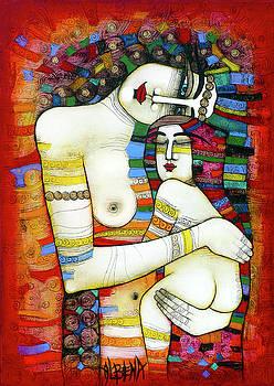 Madone - hommage to Klimt by Albena Vatcheva