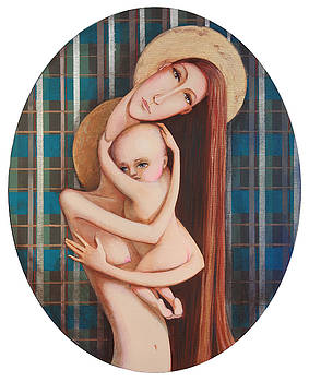 Madonna and child by Agnese Kurzemniece