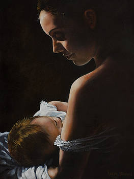 Madonna and Child by Harvie Brown