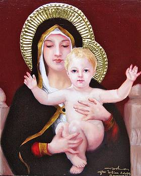 Madonna and child by Usha P