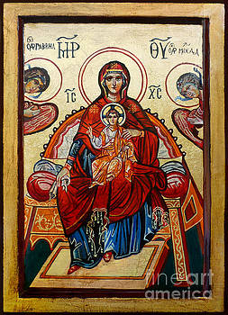 Madonna with Child and Angels by Ryszard Sleczka