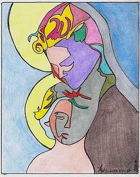 Madonna With Child by Loretta Nash