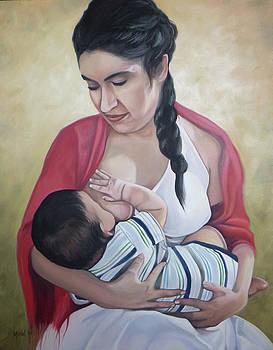 Madre amamantando a su bebe by Miriel Smith