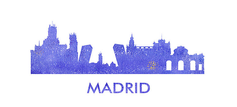 Vyacheslav Isaev - Madrid city purple skyline