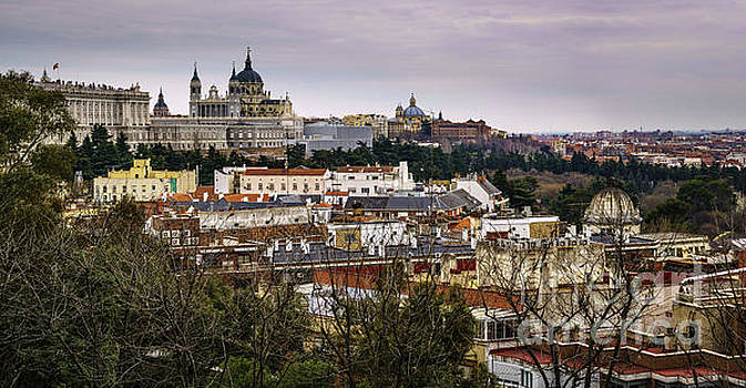 Madrid Panorama from Debod Lookout Madrid Spain  by Pablo Avanzini