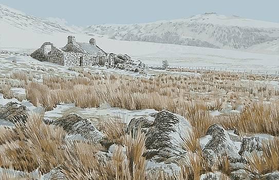 Maen y Gaseg in winter by Alwyn Dempster Jones