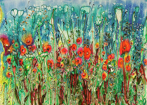 Parade of the Flowers 22X30 by Shirley Sykes Bracken