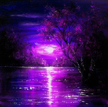 Magenta Moon by Ann Marie Bone