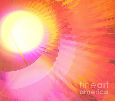 Magenta Orange Sunshine by Kim Sy Ok