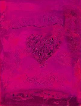 Magenta Paper Heart - variation by Alexandra Schumann