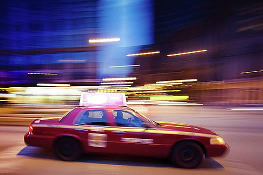 Magenta Taxi Cab by Taras Khlibovych