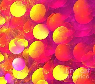 Magenta Yellow Planets by Kim Sy Ok
