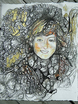Magic eye portrait by Anne-D Mejaki - Art About You productions