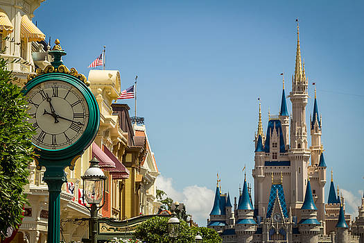 Magic Kingdom Castle and Clock by Andrew King