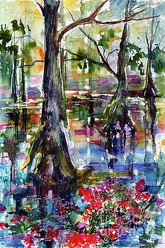 Ginette Callaway - Magic Wetland Morning Watercolor