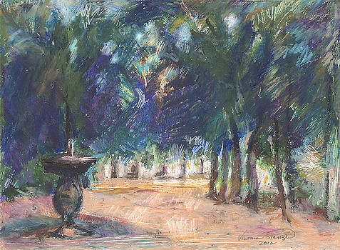 Magical Fountain by Victoria Stavish