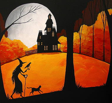 Magical Friends - witch silhouette by Debbie Criswell