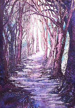Magical mauve forest by Emma Childs