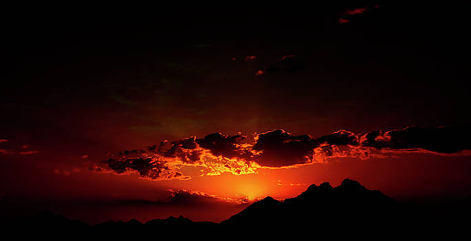 Magical Sunset In Africa 2 by Johanna Hurmerinta