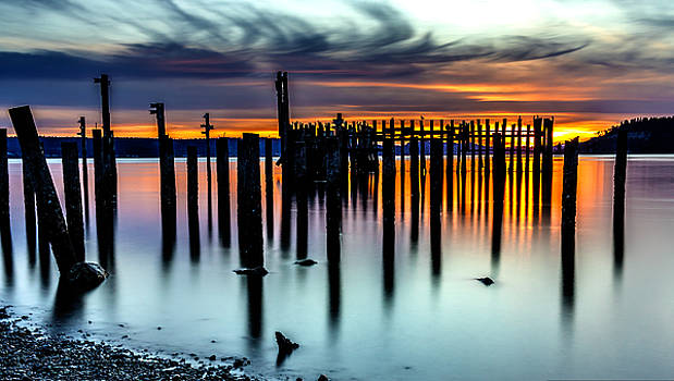 Magical Sunset Titlow Beach Tacoma WA by Rob Green
