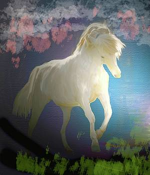 Magical White Horse by Patricia Keller