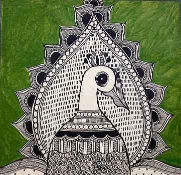 Magnificent peacock by Vidushini  Prasad