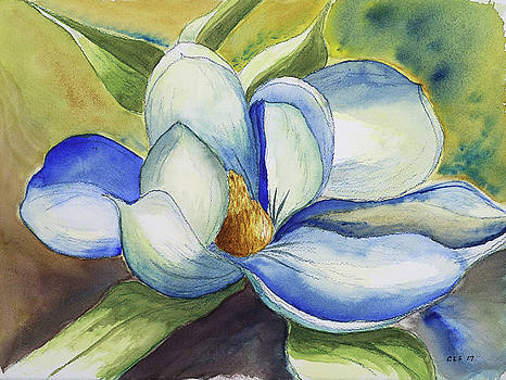 Magnolia Blossom at Dusk by Cynthia Schoeppel