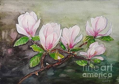 Magnolia Blossom - painting by Veronica Rickard
