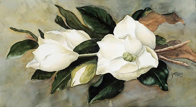 Magnolia bouquet by Georgia Pistolis