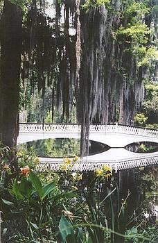 Magnolia Gardens Bridge-vertical by Kelly Luquer