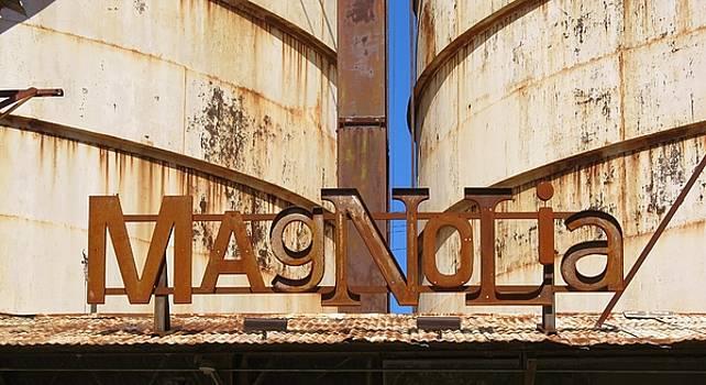 Magnolia Silos Sign Waco Texas by Donna Wilson