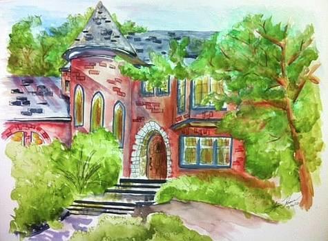 Magnolia Street Castle by Lynn Takacs