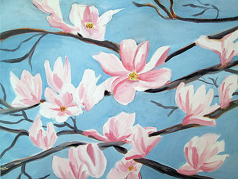 Magnolias in the Spring by Haley Jula